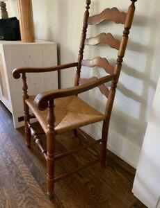 high back woven chair