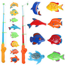 Child Magnetic Fishing Game Toys Set Kid Fishing Rod Model+8 Colorful Fish Gifts