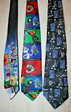 Lot of 3 BUGS BUNNY / Looney Tunes - Stamp Collection Neck Ties - New With Tags!