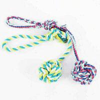 Puppy Dog Pet Toy Cotton Braided Ball Bone Rope Chew New.. Knot Dental Teet M1F5