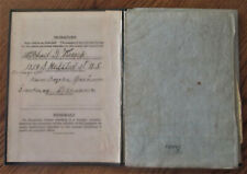 VINTAGE 1921 AMERICAN PASSPORT WITH TRAVEL STAMPS MICHAEL G.KREICH LITHUANIA