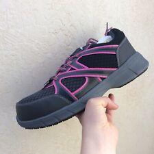Womens Brahma Joist Sneakers Sz 9  M Gray Pink Composite Steel Toe Oil Resist