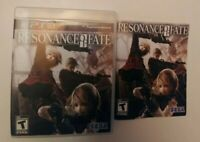 Rare Resonance Of Fate Sony Ps3 Playstation 3 Manual and Box Only Good Bilingual