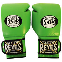 Cleto Reyes Hook and Loop Leather Training Boxing Gloves - Citrus Green