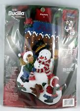 "Bucilla #84952 Christmas Felt Stocking Playdate 18"" NIP"