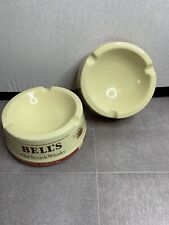 More details for vintage wade england large ceramic bell's scotch whisky ashtray x 2  mancave