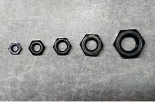 Muttern DIN 934 M6 M8 M10-Stahl-schwarz verzinkt-ab 2 Stück
