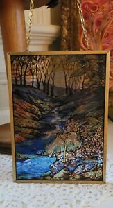 Glassmasters Stained Glass Suncatcher titled Fawn in the Woods Louis Tiffany