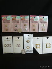 Lot #2 ~ of Small Buckles and hooks for Doll Clothes ~ New on Cards