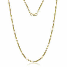 """14K Solid Yellow Gold Cuban Link Chain Necklace 16""""  Men's Women"""