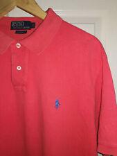 Mens RALPH LAUREN polo t shirt. Custom Fit. Pink. Size XL