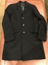 UNIQLO MEN'S Black Wool & Cashmere Blend Chesterfield Coat Size Small - EUC