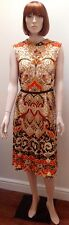 1960S Striking Orange Yellow And Black Pucci Dress Uk10