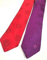 New 100/% Silk Authentic Tie in Multi Color Crisscross Design Rtl Versace $135
