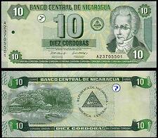 NICARAGUA 10 CORDOBAS (P191) 2002 UNC