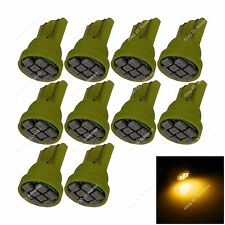 10x Yellow T10 W5W 8SMD 1206 LED Car Clearance Lamp Roof Light Reading Bulb 12V