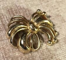 1940s Brooch Pin Frond Fern Leaf Vintage Retro decorative silver coloured metal