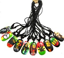 10pcs Bob Marley Pendant Necklaces Men Punk Cool Fashion Jewelry wholesale lot