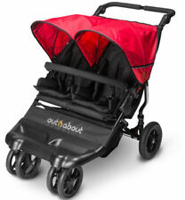 Brand new in box Out n About little nipper double pushchair Poppy red with pvc