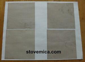 "6"" X 5"" CLEAR MICA SHEET, PARLOR KEROSENE, OIL, STOVE REPAIR WINDOW PANEL. NOS."
