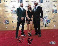 Anastasia Yankova Joe Schilling Matt Mitrione Signed 8x10 Photo BAS COA Bellator