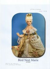 1:12 scale Miniature Doll Art Tutorials ~ Patterns ~Clothes/Hair Bird Nest Marie