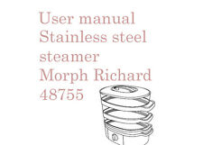 User manual for Morphy Richards, Stainless steel steamer 48755