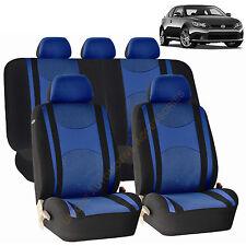 BLUE AIRBAG & SPLIT Bench SEAT COVERS 9pc SET for SCION TC XB