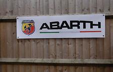 Banner ABARTH GARAGE OFFICINA PVC Sign, Fiat 500, di, PUNTO EVO