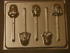 Storm Troopers Darth Vader Star Wars Faces Lollipop Chocolate Candy Soap Mold