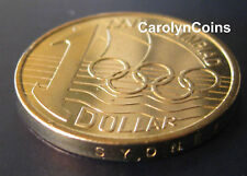 1 Dollar Coin UNC 2000 Olymphilex Sydney Mintmark Australian One Dollar in card