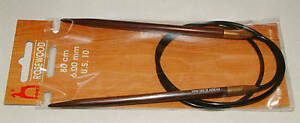 Pony Rosewood Circular Knitting Needle 6.00mm 80cm NEW!