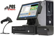 pcAmerica POS System CRE Cash Register Express PRO POS Retail i3 4GB Station NEW