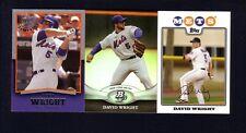 2011 Bowman Platinum David Wright & 2008 Topps & 2008 UD Timeline