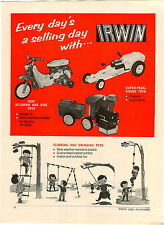 1968 PAPER AD 2 PG Irwin Corp Toy Dump Pick Up Wrecker Tow Truck Pedal Car Train