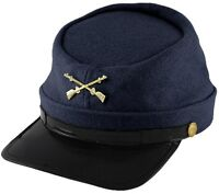 Kepi Wool Hat Union Army Cap Infantry Soldier Civil War Costume One Size