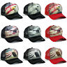 USA American Flag hat Vintage Eagle Stars and Stripes Mesh Snapback Baseball cap