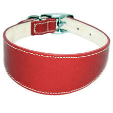 BBD Whippet Deluxe Collar Red. High Qualitywhippet 12 14