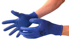6 Pairs Men Women Latex Rubber Palm Coated Construction Working Garden Gloves