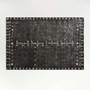 Crate and Barrel Erria Black Hand Tufted Woolen Area Rug