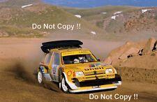 Ari Vatanen Peugeot 205 Turbo T16 Pikes Peak Hillclimb 1987 Photograph 1