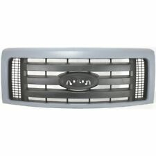 Grille For 2009-2014 Ford F-150 Gray Shell w/ Textured Black Insert Plastic