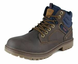 Wrangler Yukon Lace Up Casual Mens Boots Dark Brown