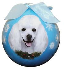 White Poodle Shatter Proof Ball Ornament Dog Holiday Christmas Tree Decoration