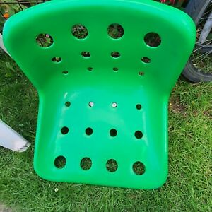 Tractor seat stool Swivel Chair Green Plastic With Metal Bolt Locking Mechanism