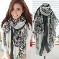 Fashion Women's Christmas Soft Cotton Long Scarf Wrap Large Shawl Scarves Stole
