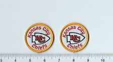 "Set of 2 Kansas City KC Chiefs Patch 2"" Round (sew or iron on)"