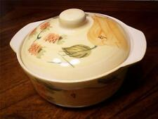 Cute 'Sweet Harvest Covered Souffle Dish w/Pears Grapes Fruit Pattern