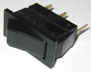 Arcolectric C1510 Black Rocker Switch - SPDT - 250VAC 16A 1HP - 125V 0.5HP