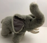 """Ganz Gray Elephant Plush 1996 CH1626 12"""" Stuffed Animal Toy"""